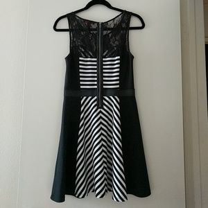 Material Girl Dresses - ⭐⬇️ Price Unless Bundled- B&W Fit & Flare Dress⭐